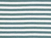 Bündchen Streifen 5 mm garngefärbt, altmint weiß