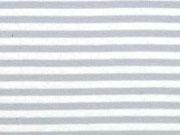 Bündchen Streifen 5 mm garngefärbt, hellgrau weiß