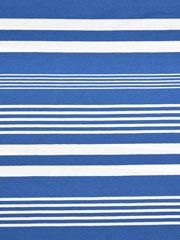 RESTSTÜCK 45 cm Jersey Streifen garngefärbt, weiß himmelblau