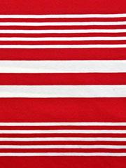Jersey Streifen garngefärbt, weiß rot