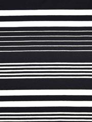 Jersey Streifen garngefärbt, weiß schwarz