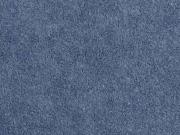 Sweat Frottee elastisch uni, dunkelblau