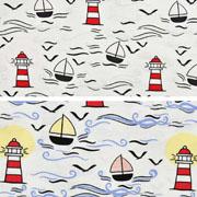 Jersey Magic Segelboote Leuchttürme UV-Licht Farbeffekte, cremeweiß