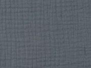 RESTSTÜCK 36 cm Musselin dreifach  Triple Gauze uni, dunkelgrau