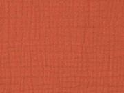 Musselin dreifach  Triple Gauze uni, terracotta