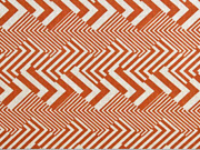 Dekostoff Leinenlook Zickzack grafisches Muster , terracotta