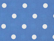 RESTSTÜCK 93 cm Baumwollstoff weiße Punkte 1 cm, jeansblau