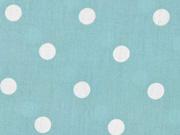 Baumwollstoff weiße Punkte 1 cm, mint