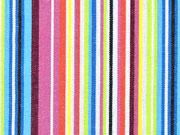 Mexiko Stoff schmale Streifen, gelb grün rosa bunt