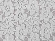 Spitzenstoff Blumen mit Baumwolle, creme