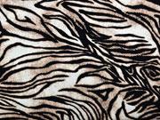 Viskosejersey Animalprint, schwarz weiß braun