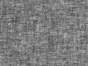 Viskose Leinen Stoff uni, schwarz meliert