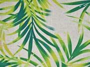 Viskose Leinen Palmblätter, grün natur