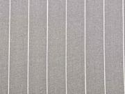 Viskose Leinen Stoff schmale Nadelstreifen, weiß taupe