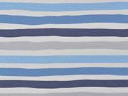 Jersey Streifen, hellblau weiß