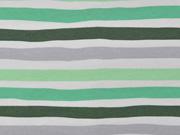 Jersey Streifen, grün weiß