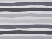 Jersey Streifen, grau weiß