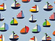 Jersey Segelboote, bunt hellblau