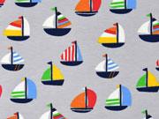 Jersey Segelboote, bunt hellgrau
