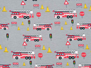 Jersey Feuerwehr Verkehrsschilder, grau