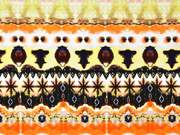 Jersey Ethnomuster Batik Ibiza Style Digitaldruck, orange braun schwarz