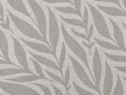Dekostoff Leinenlook Blätter, taupe natur
