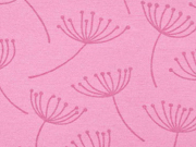RESTSTÜCK 45 cm Dekostoff Pusteblumen Dandelions, altrosa