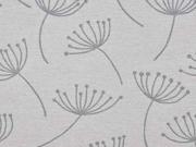 Dekostoff Pusteblumen Dandelions, grau