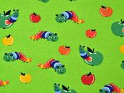 Jersey Raupen Äpfel, rot gelb hellgrün