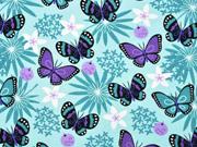 Jersey Schmetterlinge, lila mint