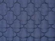 Steppstoff Jackenstoff wattiert uni, dunkelblau