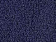 Boucle Stoff Lammfell Optik, dunkelblau