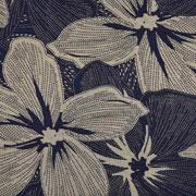 Viskosejersey große Blumen, khaki schwarz