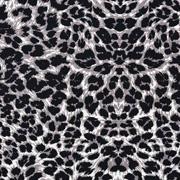 Viskose Stoff Leoparden Muster Animal Print, grau schwarz