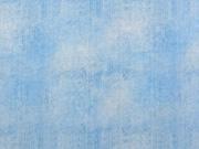 Jersey Stoff Jeans Optik uni, hellblau