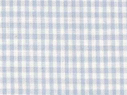 Baumwollstoff Vichy Karo, hellblau weiß