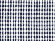 Baumwollstoff Vichy Karo, dunkelblau weiß