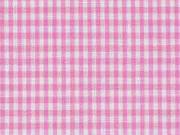 Baumwollstoff Vichy Karo, rosa weiß