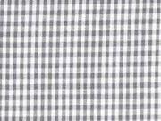 Baumwollstoff Vichy Karo, dunkelgrau weiß