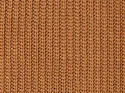 Strickstoff Baumwolle Halbpatent gerippt, terracotta braun