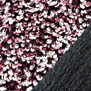 Jerseystoff Pailletten Allover elastisch, altrosa