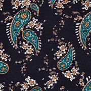 Viskose Stoff Paisley Muster, schwarz