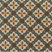 Baumwollstoff Mandalas Kreuzblume, khakigrün