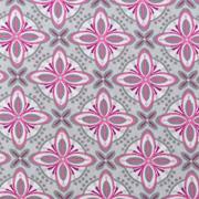 Baumwollstoff Mandalas Kreuzblume, rosa grau