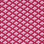 Baumwollstoff kleines Fächermuster, rosa weinrot