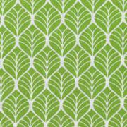 Baumwollstoff Blättermuster, weiß hellgrün