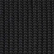 Strickstoff Baumwolle Halbpatent gerippt, schwarz