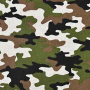 Dekostoff Camouflage Leinenlook, braun grün