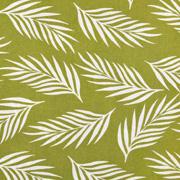 Viskose Stoff Federn Blätter, weiss hellgrün