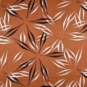 Viskose Leinen Webware abstrakte Blumen, terracotta